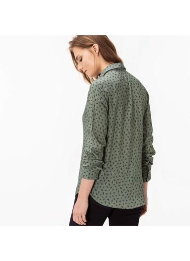Lacoste Uzun Kollu Desenli Gömlek Yeşil